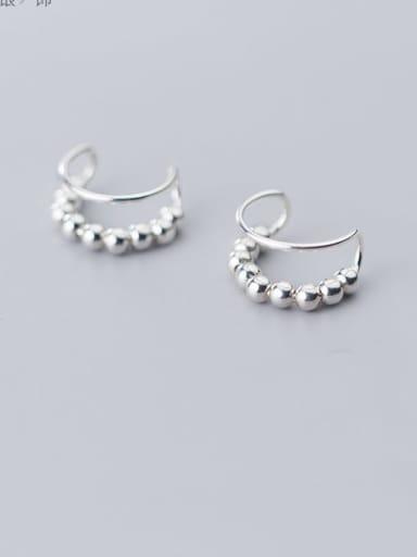 925 Sterling Silver Minimalist Clip Earring