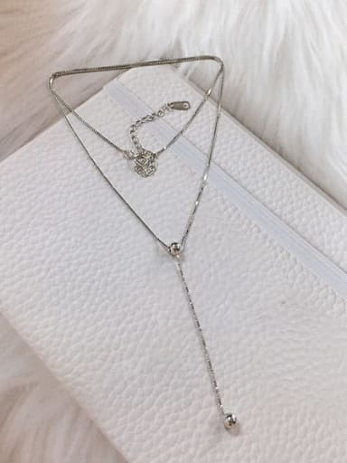 Silver 925 Sterling Silver Ball Dainty Locket Necklace