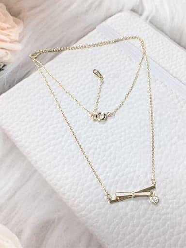 Gold 925 Sterling Silver Cubic Zirconia Enamel Irregular Dainty Initials Necklace