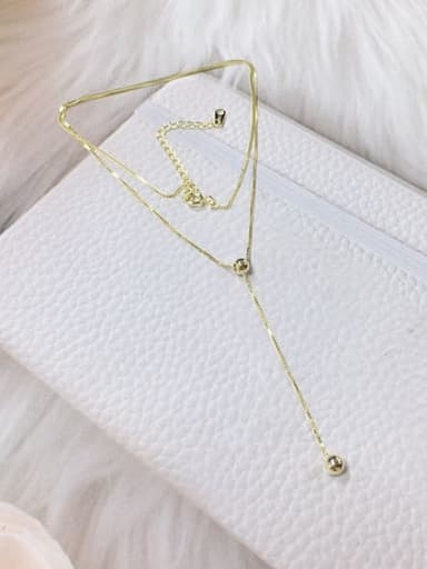 Gold 925 Sterling Silver Ball Dainty Locket Necklace