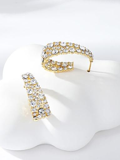Gold Zinc Alloy Gold Plated Irregular Stud Earring