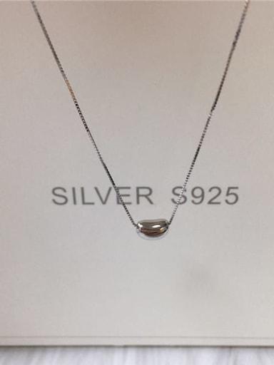 Silver 925 Sterling Silver Irregular Dainty Locket Necklace