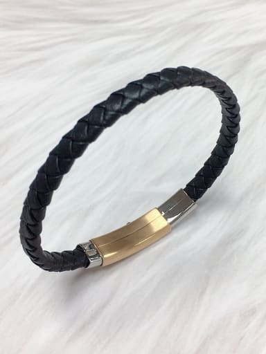 Stainless steel Leather Irregular Trend Bracelet