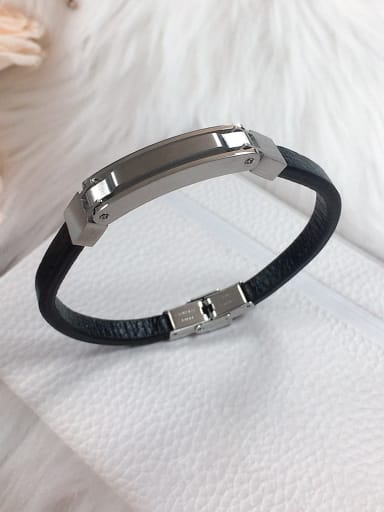 Stainless steel Leather Irregular Trend Bracelet