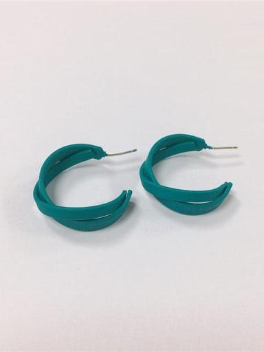 Brass Enamel Cone Trend Hoop Earring
