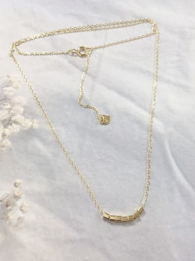 Gold 925 Sterling Silver Dainty Initials Necklace