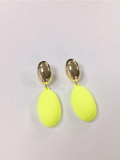 fluorescence color Zinc Alloy Enamel Oval Trend Drop Earring