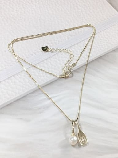 Gold 925 Sterling Silver Freshwater Pearl Dainty Locket Necklace