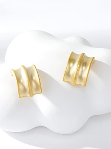 Electric sand gold Zinc Alloy Gold Plated Irregular Stud Earring