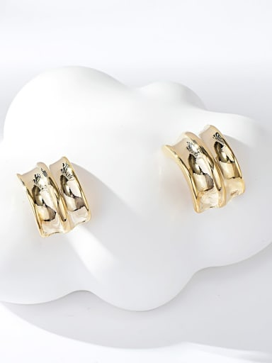 Gold Zinc Alloy Gold Plated Irregular Stud Earring