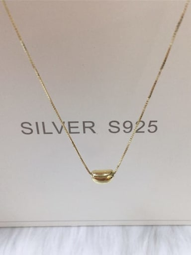 Gold 925 Sterling Silver Irregular Dainty Locket Necklace