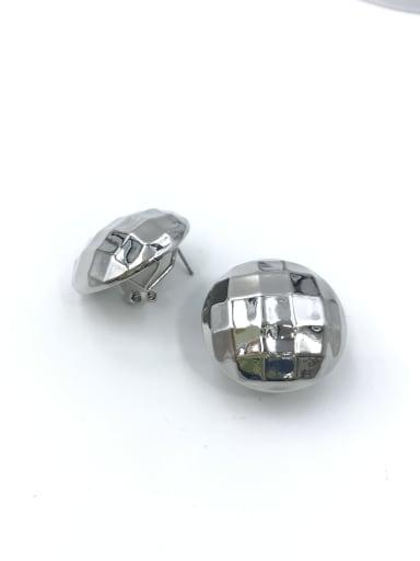imitation rhodium Zinc Alloy Round Minimalist Clip Earring