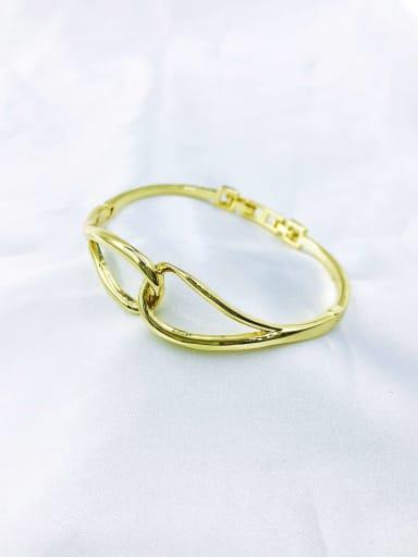 Gold Zinc Alloy Irregular Minimalist Band Bangle