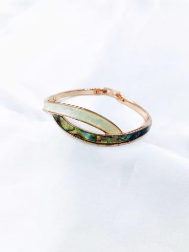 Rose Zinc Alloy Shell Multi Color Minimalist Band Bangle