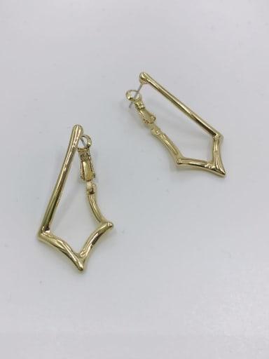 Gold Zinc Alloy Irregular Minimalist Huggie Earring