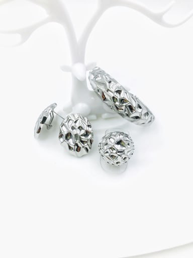 imitation rhodium Zinc Alloy Statement Irregular Ring Earring And Bracelet Set