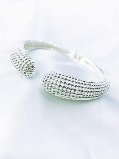 Silver Brass Minimalist Cuff Bangle