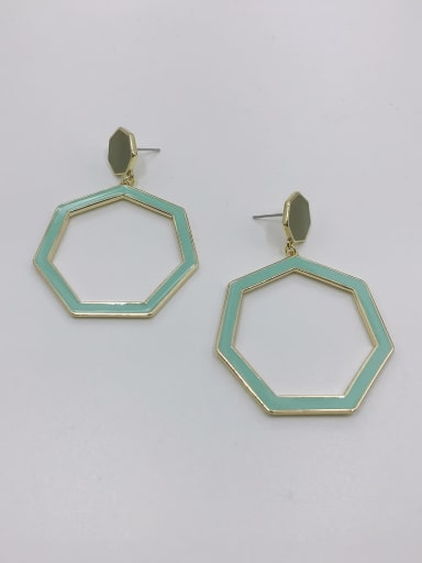 GOLD+ARMY GREEN+LIGHT GREEN Zinc Alloy Enamel Geometric Minimalist Drop Earring