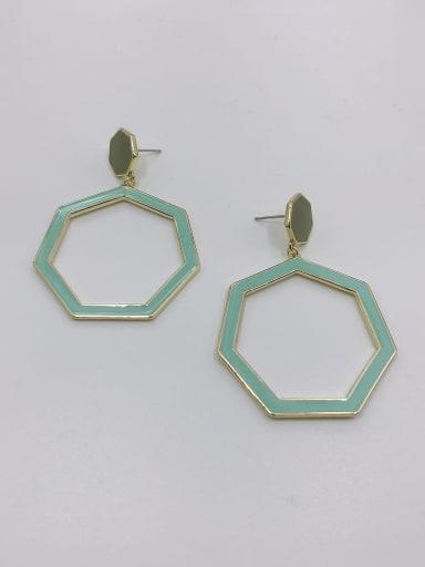 GOLD+ARMY GREEN+LIGHT GREEN Zinc Alloy Enamel Geometric Minimalist Drop Earring
