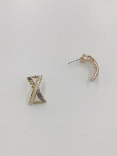 Rose Zinc Alloy Shell Multi Color Irregular Minimalist Stud Earring