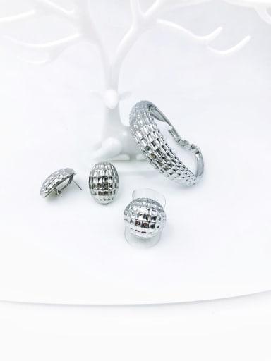 imitation rhodium Zinc Alloy Minimalist  Ring Earring And Bracelet Set