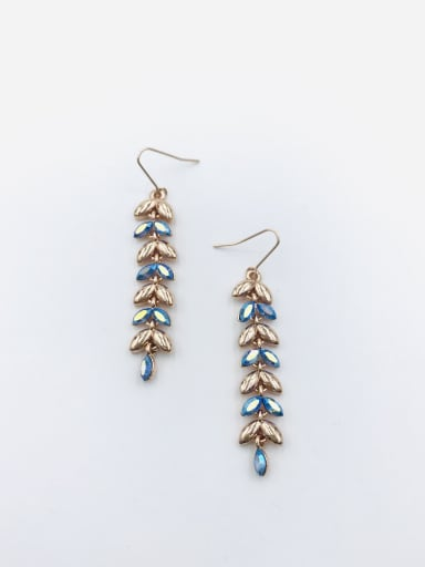 Rose Zinc Alloy Swarovski Crystal Multi Color Leaf Dainty Hook Earring