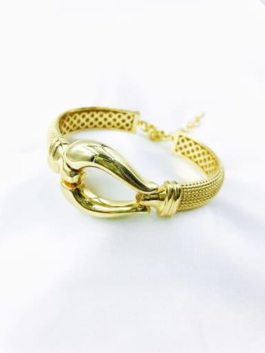 Gold Brass Irregular Minimalist Band Bangle