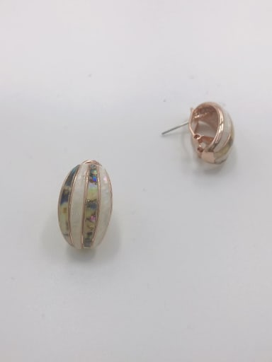 Rose Zinc Alloy Shell Multi Color Minimalist Clip Earring
