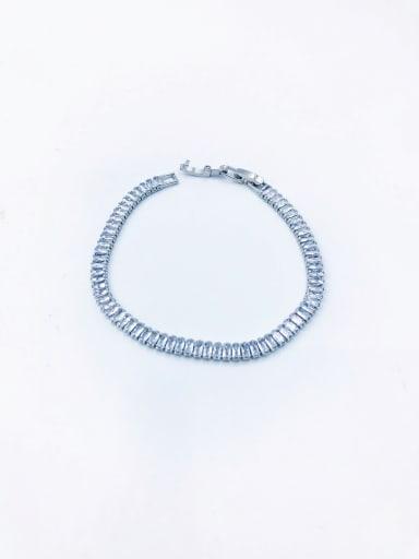 imitation rhodium Brass Cubic Zirconia Clear Minimalist Bracelet
