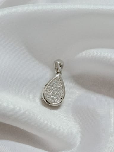 Water Drop 925 Sterling Silver Cubic Zirconia White Dainty Pendant