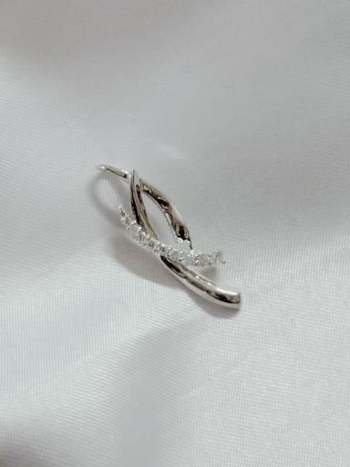 Geometric 925 Sterling Silver Cubic Zirconia White Minimalist Pendant