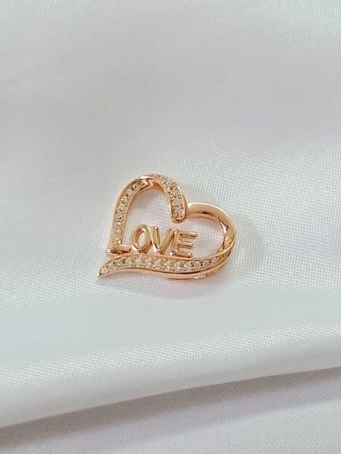 yellow gold Heart 925 Sterling Silver Cubic Zirconia White Minimalist Pendant