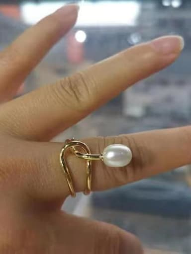 925 Sterling Silver Bead White Oval Minimalist Solitaire Ring