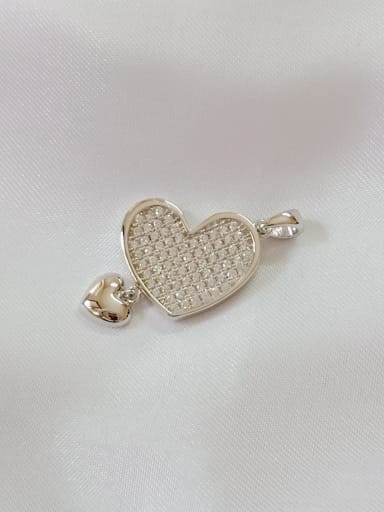 Heart 925 Sterling Silver Cubic Zirconia White Classic Pendant