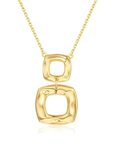 925 Sterling Silver Square Minimalist Link Necklace