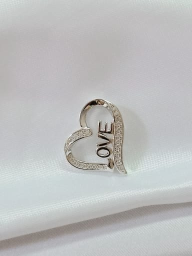 Heart 925 Sterling Silver Cubic Zirconia White Minimalist Pendant