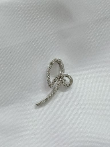 Bowknot 925 Sterling Silver Cubic Zirconia White Minimalist Pendant