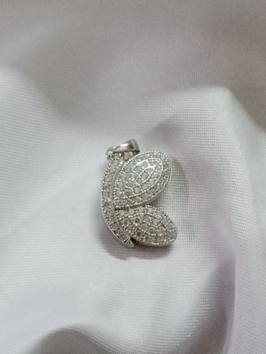 Wing 925 Sterling Silver Cubic Zirconia White Dainty Pendant