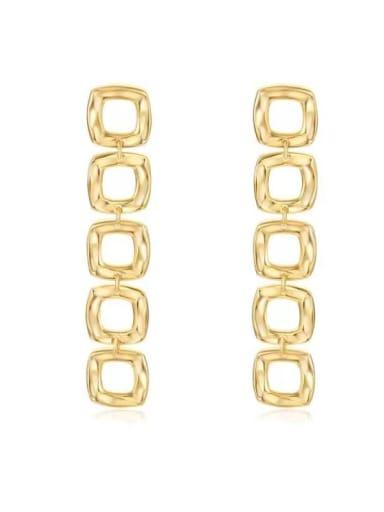 925 Sterling Silver Square Minimalist Drop Earring