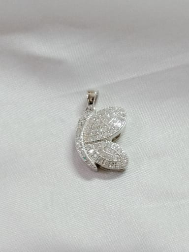 White Wing 925 Sterling Silver Cubic Zirconia White Dainty Pendant