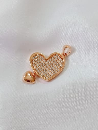 Rose Heart 925 Sterling Silver Cubic Zirconia White Classic Pendant