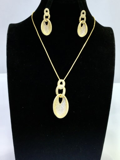Copper With Gold Plated Vintage Irregular Jewelry Sets