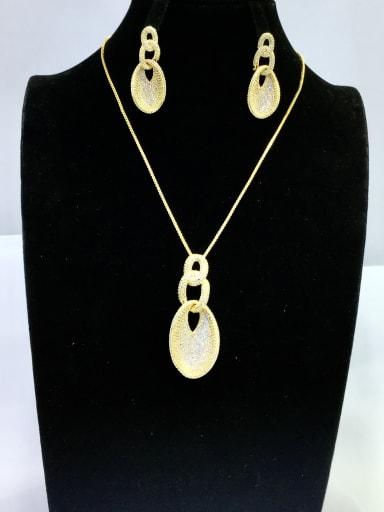 GODKI Luxury Women Wedding Dubai Copper With Gold Plated Vintage Irregular Jewelry Sets