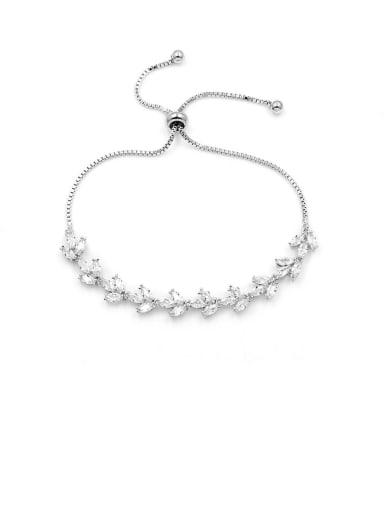Copper With Platinum Plated Simplistic Water Drop Adjustable Bracelets