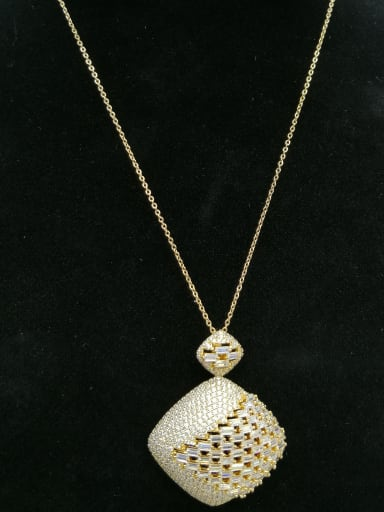 GODKI Luxury Women Wedding Dubai Copper With Gold Plated Fashion Square 2 Piece Jewelry Set