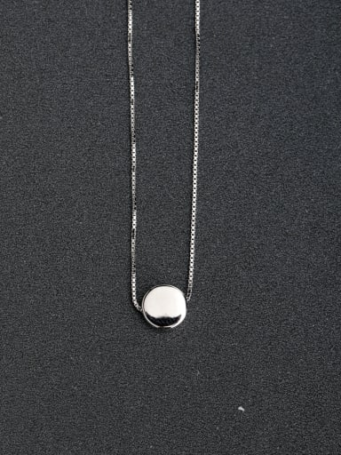 custom Classic round 925 Silver Necklaces Clavicular chain
