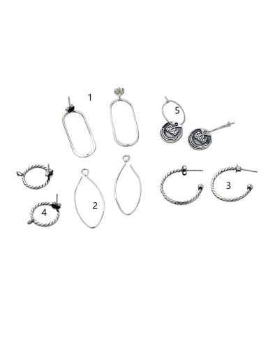 Sterling Silver With Women's Earrings Diy Jewelry Accessories