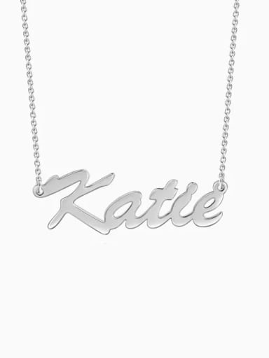 "Customize Classic Personalized ""Katie"" Name Necklace sterling siver"