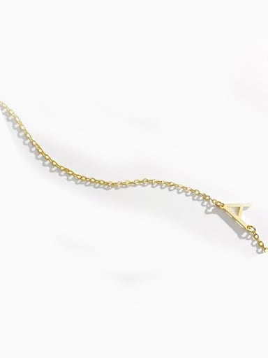 18K Gold Plated Customize Sterling Silver one letter Name Necklace
