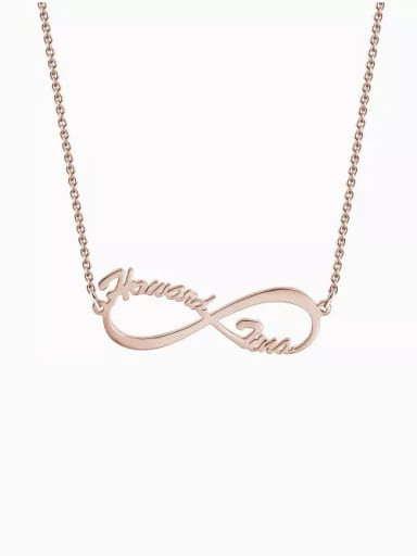 18K Rose Gold Plated Cutsomize Infinity Personalized Name Necklace 925 Sterling Silver